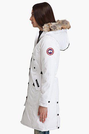 Canada goose пуховик женский kensington белый